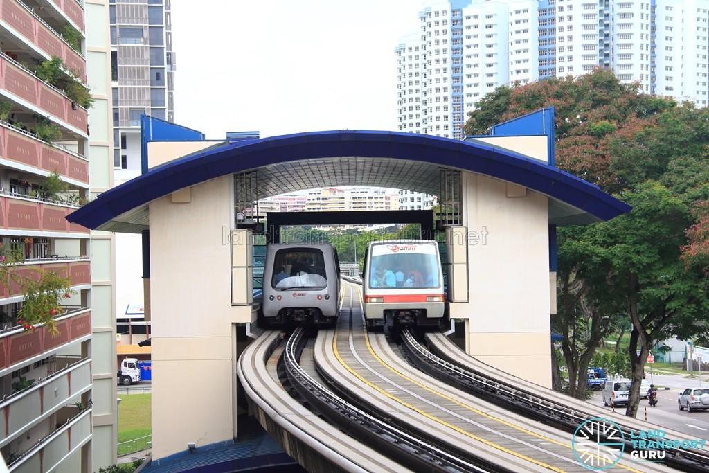 Phoenix LRT Station - Exterior view of platforms