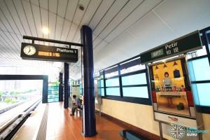 Petir LRT Station - Platform 1