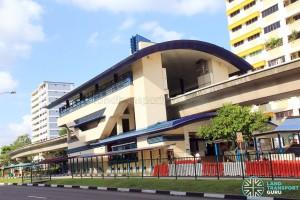 Bangkit LRT Station - Exterior view
