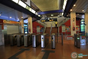 Bangkit LRT Station - Station concourse & Turnstiles