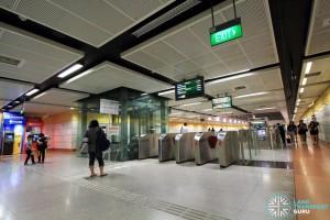 MacPherson MRT Station - Faregates near Exits B / C