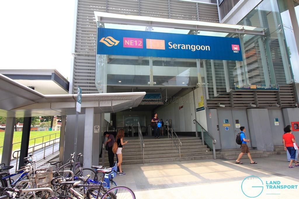 Serangoon MRT Station - Exit F