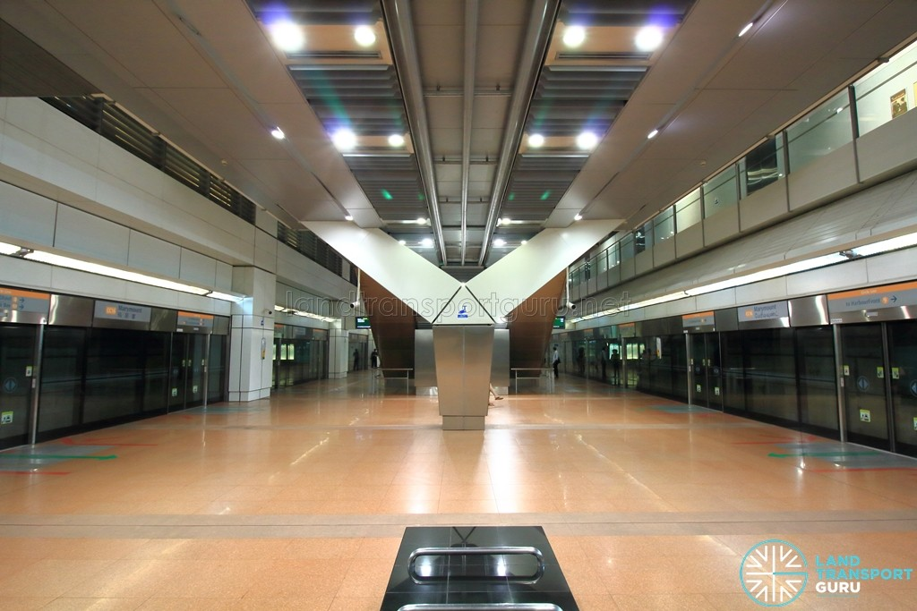 Marymount MRT Station - Platform level