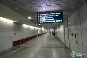 Holland Village MRT Station - Concourse level