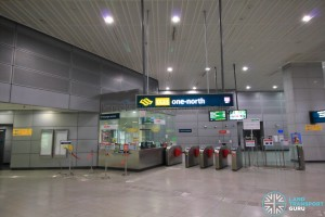 one-north MRT Station - Passenger Service Centre & Faregates