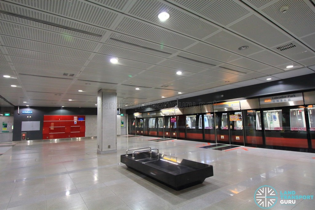 Labrador Park MRT Station - Platform level