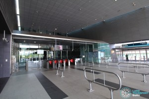 Stadium MRT Station - Faregates (East Exit)