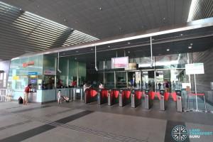 Stadium MRT Station - Passenger Service Centre & Faregates (West Exit)