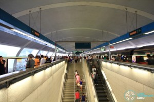 Paya Lebar MRT Station - EWL Platform escalators