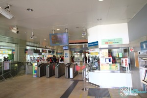 Bishan MRT Station - NSL Passenger Service Centre & Faregates