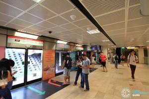 Bishan MRT Station - NSL Platform A scene