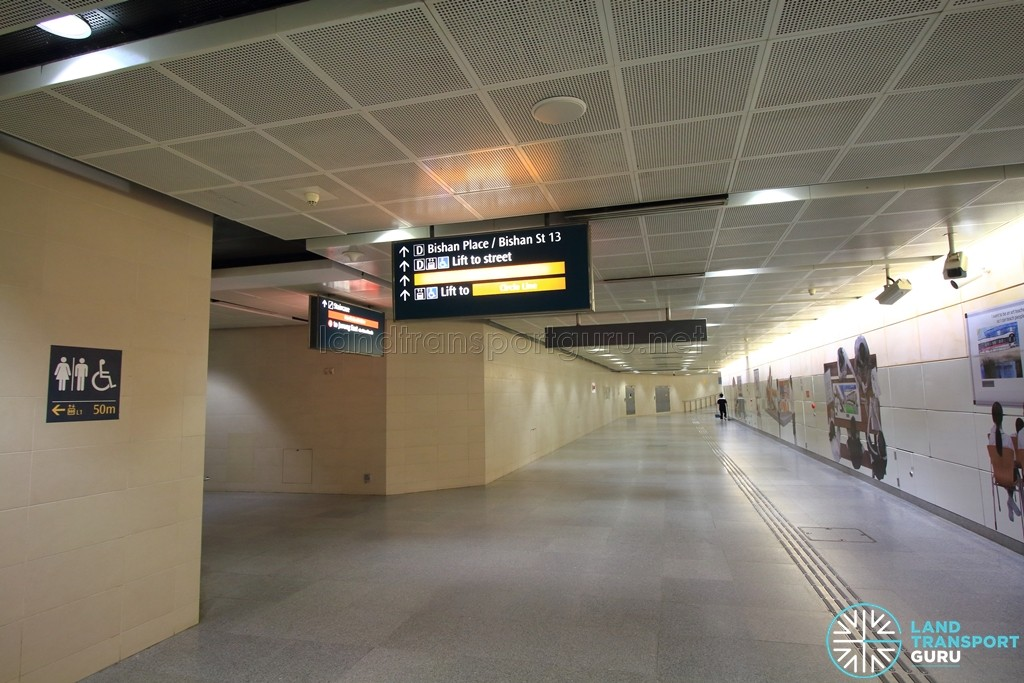 Bishan MRT Station - B2 Transfer linkway, just underneath NSL Platform A