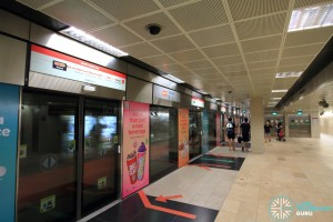 Bishan MRT Station - NSL Platform A, the old island platform, now a single side platform