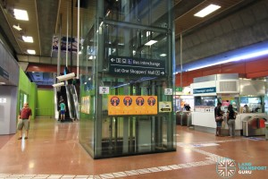 Choa Chu Kang MRT/LRT Station - Paid concourse lift