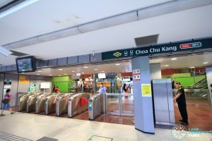 Choa Chu Kang MRT/LRT Station - Exit D to Bus Interchange