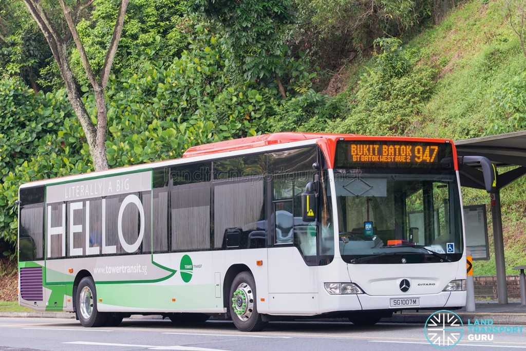 SG1007M on 945 - Tower Transit Mercedes-Benz Citaro