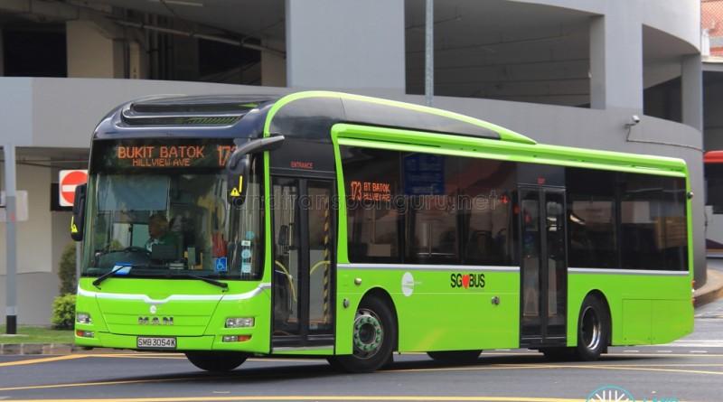SMB3054K on 173 - Tower Transit MAN A22