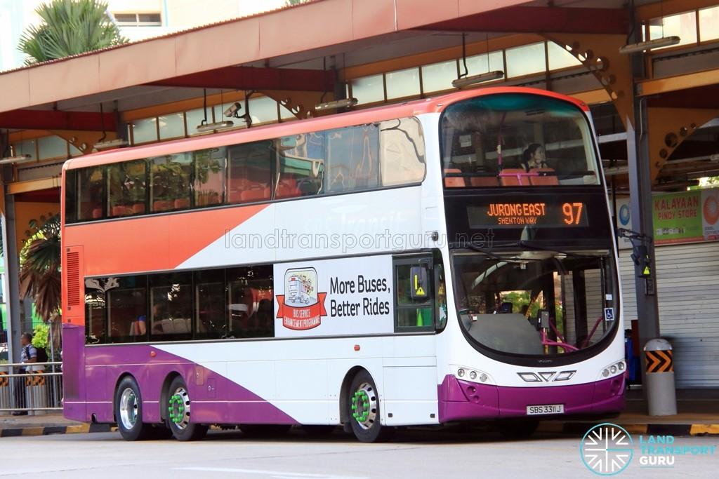 Tower Transit Volvo B9TL Wright (SBS3311J) - Service 97