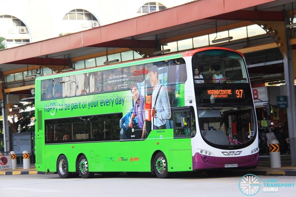 Tower Transit Volvo B9TL Wright (SBS3340A) - Service 97