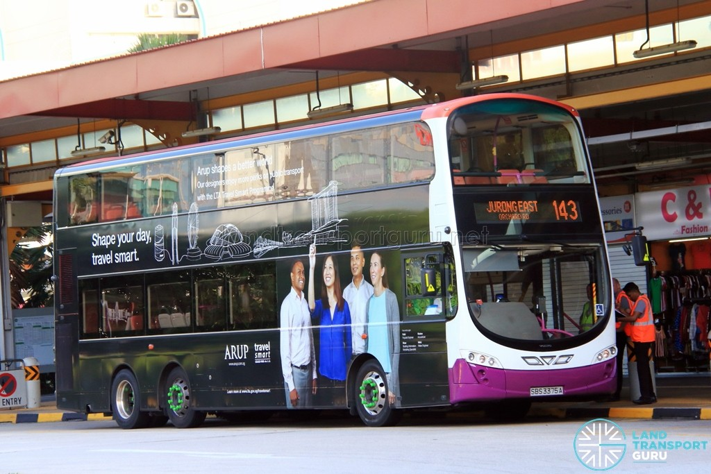 Tower Transit Volvo B9TL Wright (SBS3375A) - Service 143