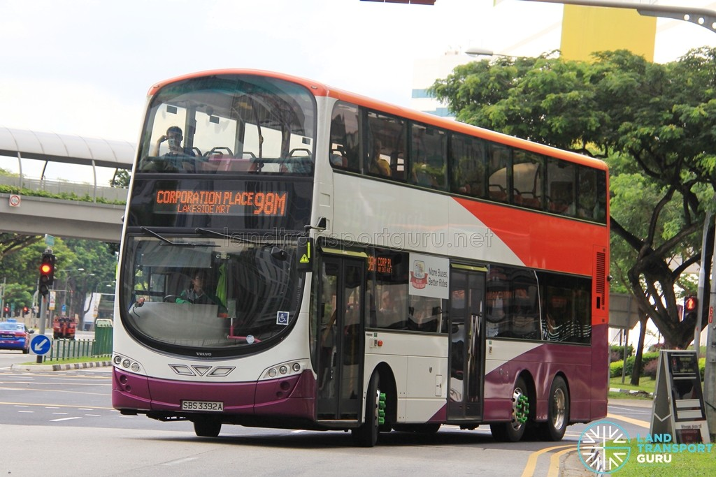 Tower Transit Volvo B9TL Wright (SBS3392A) - Service 98M