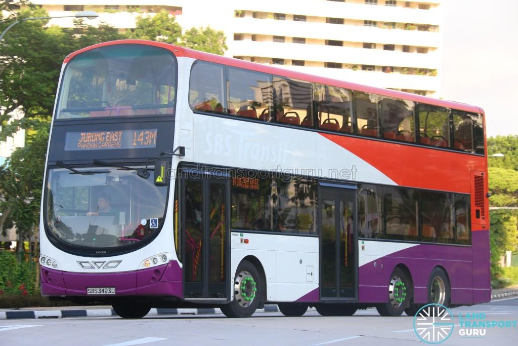 Tower Transit Volvo B9TL (SBS3423U) - Service 143M