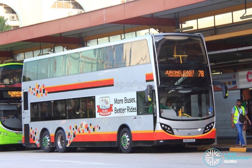 Tower Transit Enviro500 (SMB3512E) - Service 78