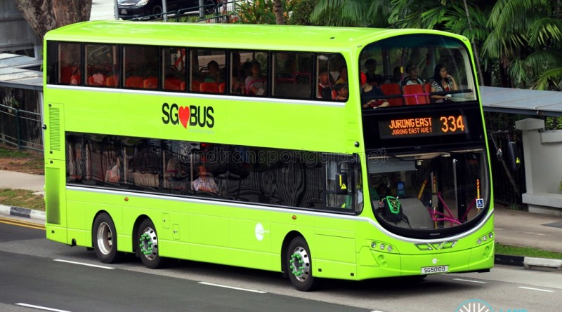 Tower Transit Volvo B9TL Wright (SG5010B) - Service 334