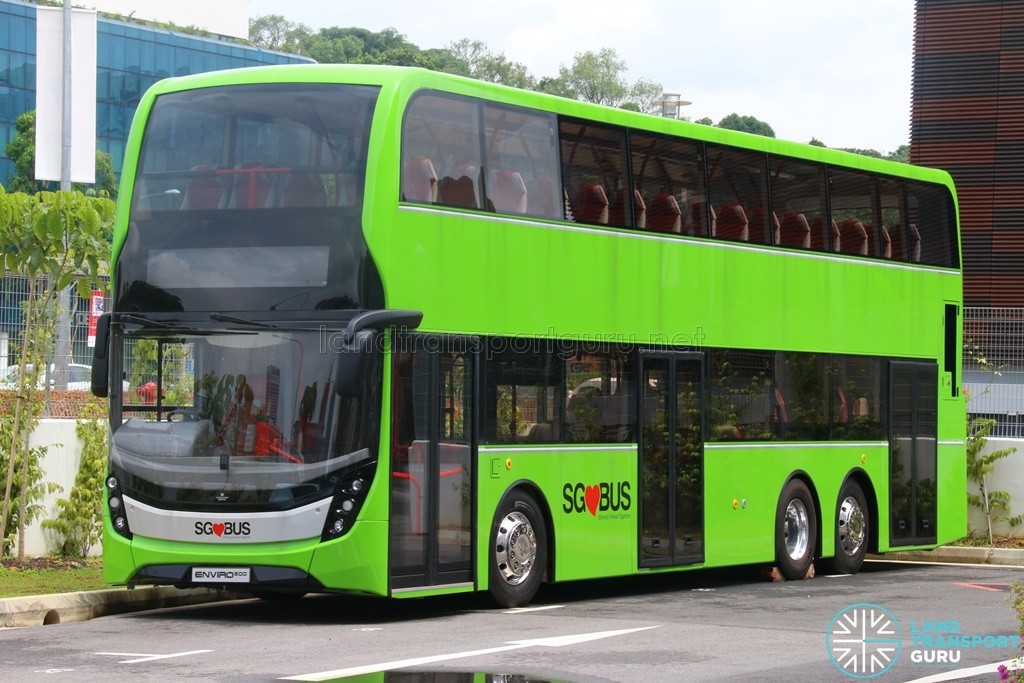 Alexander Dennis Enviro500 Mockup Bus at LTA Headquarters, Hampshire Road