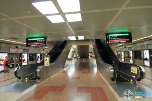 Raffles Place MRT Station - Lower Platform level escalator (B4)