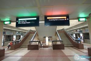 Raffles Place MRT Station - Upper Platform level stairs (B3)