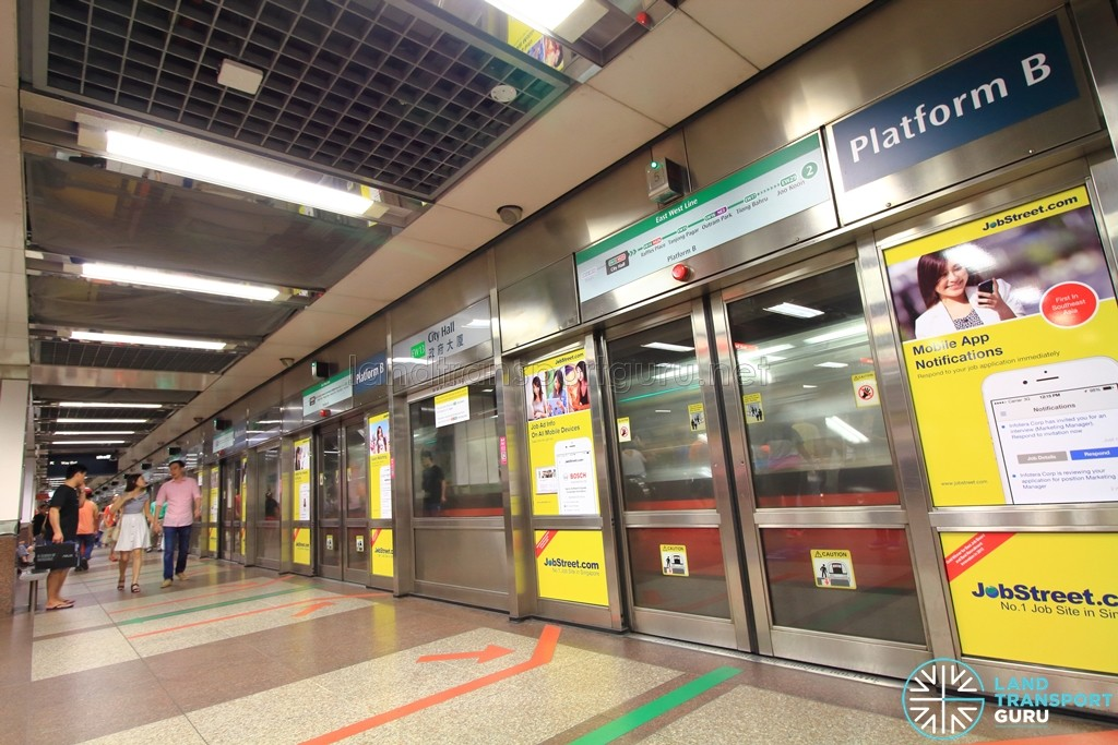 City Hall MRT Station - Platform B (EWL Westbound)