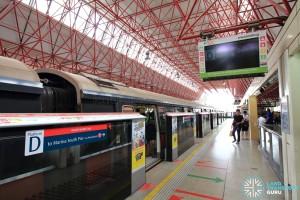 Jurong East MRT Station - NSL Platform D
