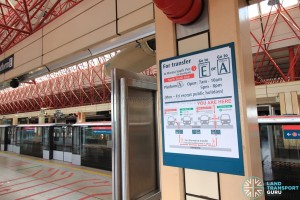 Jurong East MRT Station - Transfer Concourse (L2) - Transfer advisory