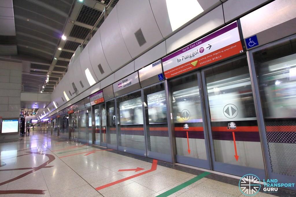 Kovan MRT Station - Platform B