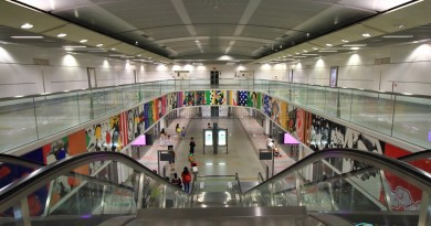 Buangkok MRT Station - View of platform from concourse