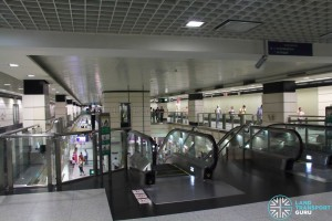 Outram Park MRT Station - NEL Concourse wrapping around platform