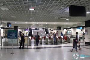 Outram Park MRT Station - NEL Passenger Service Centre & Faregates (Exits F, G)