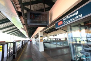 Sembawang MRT Station - Platform A