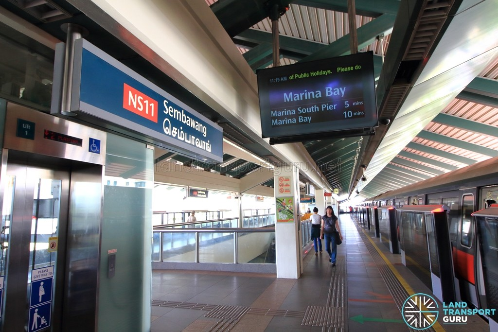Sembawang MRT Station - Platform B
