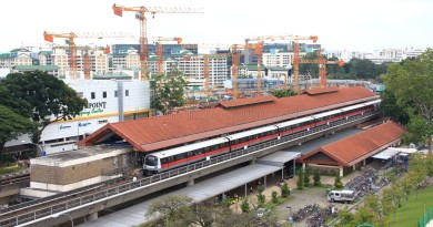 Yishun MRT Station - Aerial view