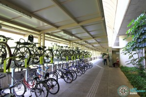 Ang Mo Kio Station: Bicycle parking near Exit D
