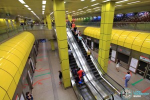 Toa Payoh MRT Station - Platform view from concourse