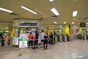 Toa Payoh MRT Station - Passenger Service Centre & Faregates