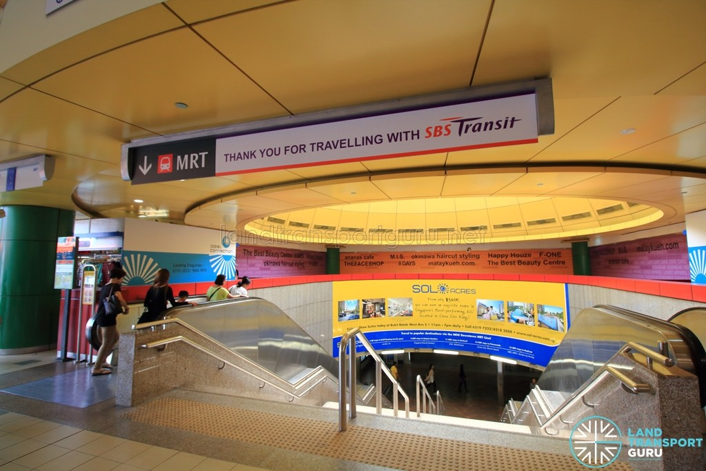 Toa Payoh MRT Station - Exit A within Toa Payoh Bus Interchange
