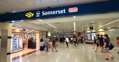 Somerset MRT Station - Underground platform