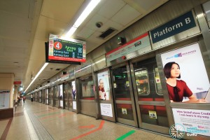 Raffles Place MRT Station - Platform B (Northbound NSL)