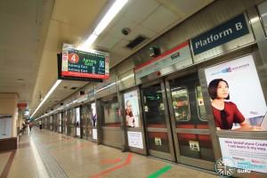 Raffles Place MRT Station - Platform B (Northbound NSL)