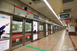 Raffles Place MRT Station - Platform D (Southbound NSL)