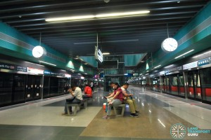Marina South Pier MRT Station - Platform level
